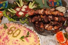 俄国食物 免版税库存图片