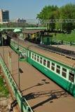 俄国高速旅客列车 免版税库存照片
