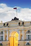 俄国,圣彼德堡,宫殿正方形, 免版税库存照片
