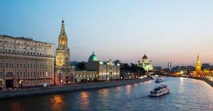 俄国,莫斯科,晚上视图 库存图片