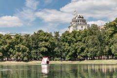 俄国,莫斯科 族长` s池塘 库存照片