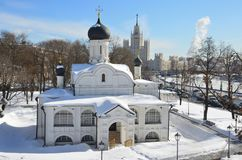 俄国,莫斯科 构想安娜, 16世纪的初期的教会 Zaryadye历史的区  图库摄影