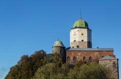 俄国, Vyborg,中世纪斯堪的纳维亚城堡 免版税图库摄影