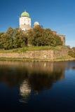 俄国, Vyborg,中世纪斯堪的纳维亚城堡 免版税库存图片
