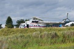 俄国直升机MI-8 免版税库存照片
