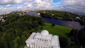 俄国 圣彼德堡 在Elagin海岛上的Elagin宫殿 影视素材