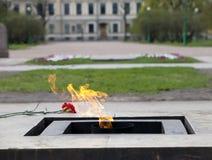 俄国 圣彼德堡 域毁损 永恒火焰 库存图片