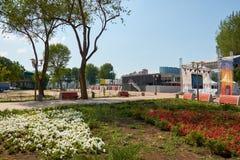 俄国 在体育场`罗斯托夫竞技场`旁边停放` Levoberezhny ` 2018年7月01日 图库摄影