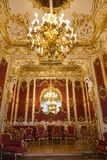 俄国 女皇玛丽亚阿列克谢,俄国皇帝亚历山大二世的妻子的内部闺房 免版税库存照片
