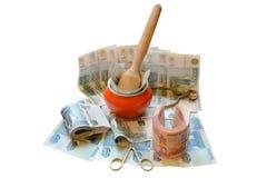 俄国货币缺省 库存照片