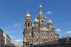 俄国 彼得斯堡sankt 救主在这血液寺庙 免版税图库摄影