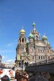 俄国 彼得斯堡sankt 救主在这血液寺庙 库存图片