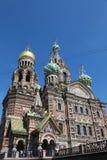俄国 彼得斯堡sankt 救主在这血液寺庙 免版税库存照片