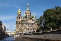 俄国 彼得斯堡sankt 救主在这血液寺庙 免版税库存图片