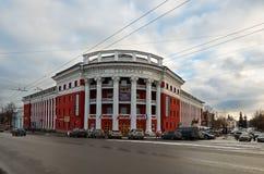 俄国 彼得罗扎沃茨克 旅馆Severnaya在彼得罗扎沃茨克 2017年11月15日 库存照片