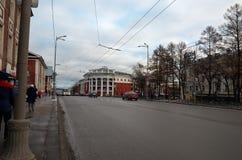 俄国 彼得罗扎沃茨克 旅馆Severnaya在彼得罗扎沃茨克 2017年11月15日 图库摄影