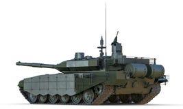 俄国主战坦克后面视图 免版税库存图片