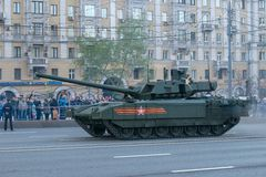 俄国主战坦克T-14 库存照片