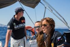 俄国水手参加航行赛船会第16 Ellada 库存图片