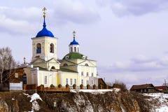 俄国 1360年教会设立了乔治的st是年的修道院vladychny serpukhov 库存照片