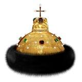俄国统治权标志- Monomakh的盖帽 免版税库存图片