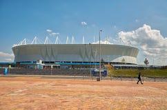 俄国 橄榄球场在公园` Levoberezhny `附近的`罗斯托夫竞技场 2018年7月01日 库存照片