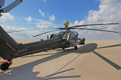 俄国攻击用直升机Mi 28 图库摄影