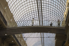 俄国建筑学红场, countr的中央商店 免版税库存照片