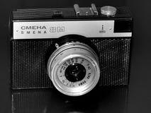 俄国 翼果 2017年4月30日 变动的老影片照相机企业在一个减速火箭的图象的 库存图片