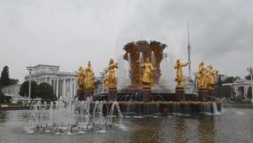 俄国 莫斯科 人民的喷泉'友谊VDNH的 影视素材