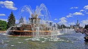 俄国 莫斯科 喷泉石花 库存照片