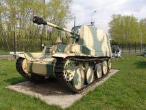 俄国 莫斯科 坦克和反坦克在Poklonnaya Gora开枪博物馆 免版税库存图片