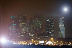 俄国 莫斯科9月2017年 城市莫斯科晚上 免版税库存照片