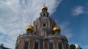 俄国 莫斯科 贞女的调解的教会在Fily 股票录像