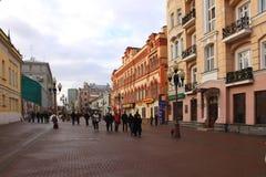俄国 莫斯科 Arbat街道 免版税库存照片