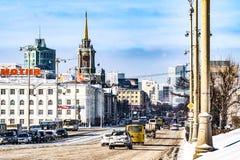 俄国 Ekaterinburg 美好的城市横向 库存照片