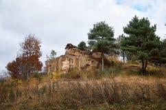 俄国 Kislovodsk 在温泉公园雕刻星在Kislovodsk 2016年10月11日 免版税库存照片