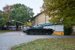 俄国 Kislovodsk 坦克在地方志`堡垒` Kislovodsk博物馆  2016年10月12日 库存照片