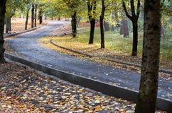 俄国 Kislovodsk 秋季手段公园在Kislovodsk 2016年10月11日 免版税库存照片