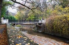 俄国 Kislovodsk 秋季手段公园在Kislovodsk 2016年10月12日 免版税图库摄影