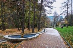 俄国 Kislovodsk 秋季手段公园在Kislovodsk 2016年10月12日 免版税库存照片