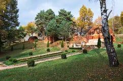 俄国 Kislovodsk 雕塑列宁在温泉公园在Kislovodsk 2016年10月11日 图库摄影