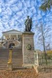 俄国 St彼得斯堡 Tsarskoe Selo普希金 古色古香的古铜 库存照片