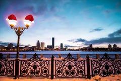 俄国 yekaterinburg 著名偶象地方在新年城市 免版税库存照片