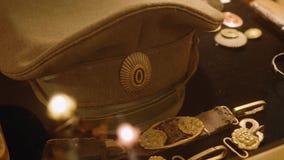 俄国Impire军队军用盖帽  股票视频
