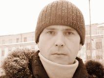 俄国sibirian男孩 图库摄影
