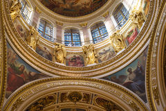 俄罗斯。圣彼得堡。St.以撒大教堂。 免版税库存图片