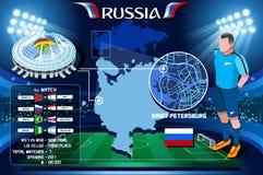 俄罗斯世界杯圣彼得堡Zenit竞技场 库存例证