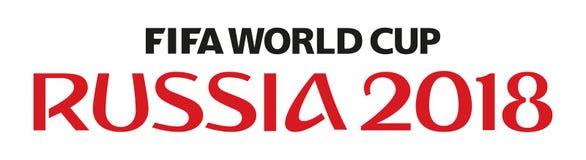 俄罗斯世界杯2018年 向量例证