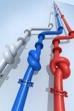 俄罗斯乌克兰气体危机 免版税库存图片